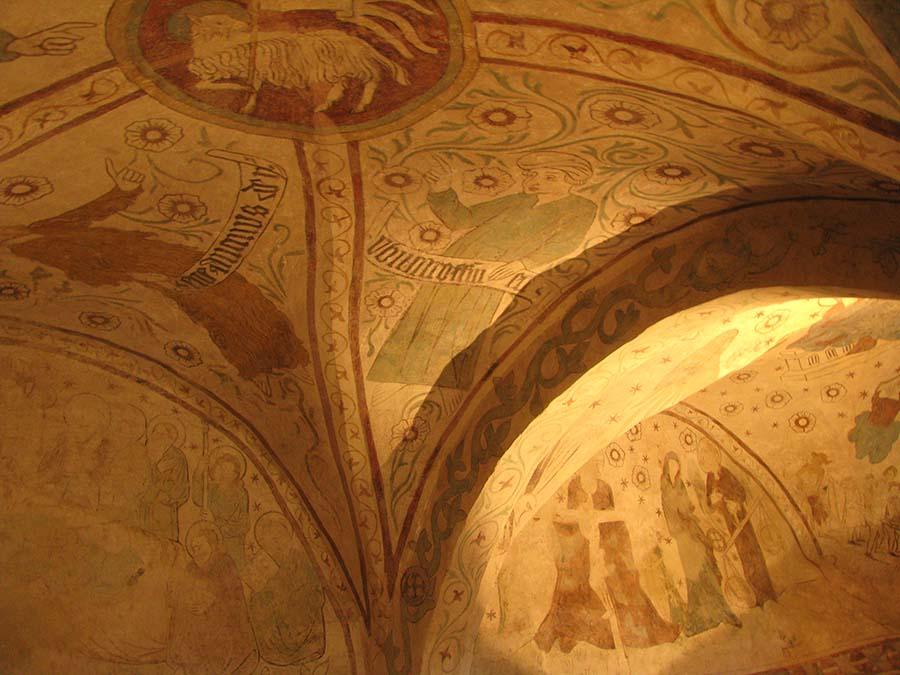 mittelalterliche Wandbemalung in der Burg Kriebstein, Foto A. Bieber