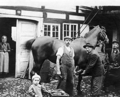 Die alte Schmiede Greifendorf im 19. Jahrhundert