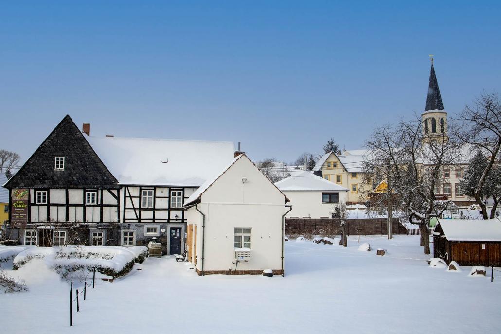 Schmiedelandhaus Greifendorf im Winter